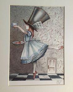 Alice In Wonderland Art Ballet Mad Hatter Print Dominic Murphy Art Collectable