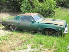 repin: 1973 Pontiac GTO in Verdant Green, my favorite color.  I'd trade a kidney for this car.
