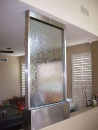 Crystal Falls free standing glass water feature-h2o2 can keep this clean!