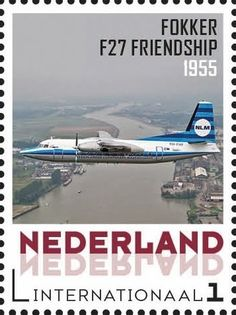 Stamp: Fokker Friendship (Netherlands - Personalized stamps) (Aviation pioneers) Col:NL 2015-208
