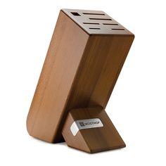 MESSERBLOCK - Thermobuche - Gut geschützt und immer griffbereit bewahren Sie Ihre Messer im Holzblock auf. Ein Blickfang in jeder Küche. Formstabil, wasserabweisend durch Wärmebehandlung. Für 7 Teile.