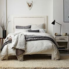 inspiration :: Organic Diamond Texture Duvet Cover + Shams | west elm