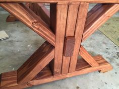 Step-by-step DIY plans showing you exactly how to build a trestle coffee table for under Into The Woods, Diy Wooden Projects, Diy Furniture Projects, Table Furniture, Woodworking Furniture Plans, Woodworking Coffee Table Ideas, Diy Coffee Table Plans, Woodworking Projects, Farmhouse Table Legs
