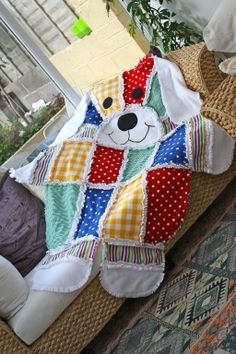 Big Dog Quilt ( Coloured) ~ Baby shower gift