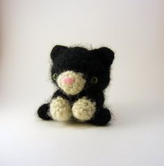 Bitty Kitty Crochet Toy Small Black * millie fern -  I lost 23 POUNDS here! http://www.facebook.com/events/163842343745817/ #products #fitness