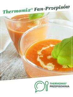 Zupa krem z pieczonej papryki i pomidorów z mascarpone jest to przepis stworzony przez użytkownika basia_gdynia. Ten przepis na Thermomix<sup>®</sup> znajdziesz w kategorii Zupy na www.przepisownia.pl, społeczności Thermomix<sup>®</sup>.