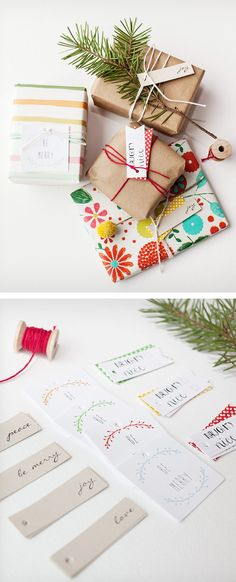 Cute holiday gift wrapping. #packaging #cute #holiday #gift #wrapping #paper #art #crafts #diy #handmade #envoltorio #navidad #papel
