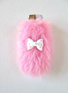 Pink Cute Lighter Case Cover, Gothic Lolita Furry Girly Kawaii Pale Grunge Bic Lighter Holder by Kerenika
