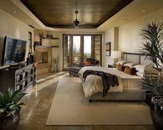Награды: Увлекательная роскошный дом дизайна интерьеров картинки, Элегантный Мастер Bedroom Deluxe дизайн с гранитным полом плитка и деревянный потолок и камин на углу