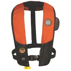 Mustang Deluxe Automatic Inflatable PFD w/HIT Inflator - Universal Adult - Orange/Black
