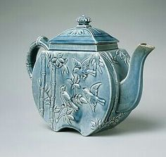 ¤ Teapot 1879–83 by Chelsea Keramic Art Works (1872–1889). New England, Chelsea, Mass., United States