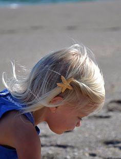 Petite Sugar Starfish Hair Barrette-MERMAID DREAMS-Girls, Birthday Party Favors, Beach Weddings, Starfish Weddings, Summer Fun, Photo Prop