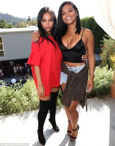 Karrueche Tran, Ne-Yo and Christina Milian at Good Brother Clothing Pre-launch Pool Party in Studio City on August 2016 Christina Milian, Karrueche Tran, Inka, Red Shirt Dress, Lauren London, Christen, Famous Women, Beautiful Black Women, Fashion Outfits