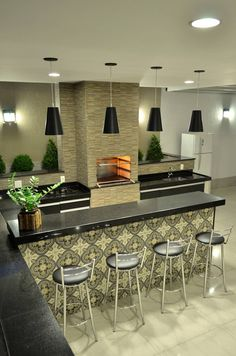 Kitchen island ideas for inspiration on creating your own dream kitchen. diy painted small kitchen design - with seating and lighting Kitchen Interior, Interior Design Living Room, Kitchen Decor, Cuisines Design, Kitchen Cupboards, Kitchen Island, Kitchen Remodel, Sweet Home, House Design