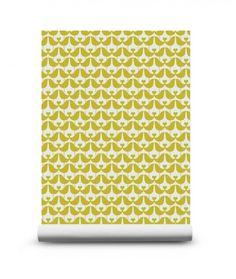 Lovebird Mustard Behang - Geel