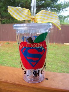 Super Teacher Tumbler/Cup, Teacher Gift Check out www.etsy.com/shop/FunkyDot for great gifts (for yourself of someone else!)