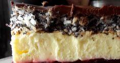 """Widziałam takie ciasto w necie pod nazwą """"biskup"""" . Jakoś ta nazwa nie przemawia do mnie, ale sam przepis był inspiracją do pieczenia. Ciast... Cherry Cake, Cheesecake, Pie, Baking, Desserts, Food, Kuchen, Torte, Tailgate Desserts"""