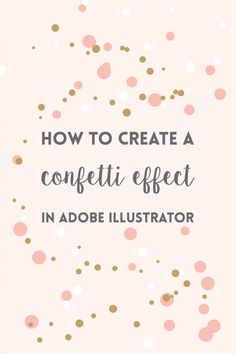 Create a confetti brush in Adobe Illustrator