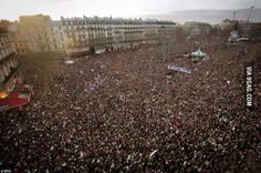 More people filled streets for Paris March today than celebrated French liberation in 1944