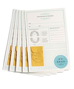 official tooth fairy certificates (set of 5)