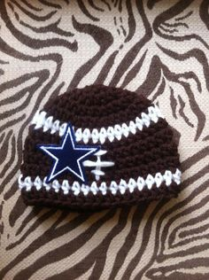 Crochet+Baby+Dallas+Cowboys+Football+Hat+Newborn+by+ aebe1f7f3834