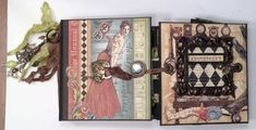 Loving this Olde Curiosity Shoppe mini album by Ginger! So many fabulous details #Graphic45