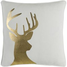 Artistic Weavers Artistic Weavers Holiday Deer Pillow Size: 18x18 Cover and Poly Insert