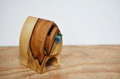 wooden box. wood box. tasmania. glass drawer knob. by TommysHut