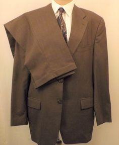 80s Mens Brown Vintage Wool Suit Chaps by Ralph Lauren Size 42R