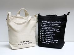 David Shrigley's Rules of the Gallery bag
