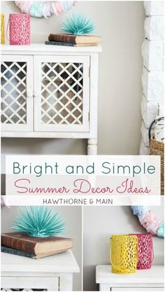 Bright and Simple Summer Decor Ideas - HAWTHORNE & MAIN
