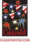 Applique - Patriotic Celebrate Garden Flag Small Garden Flags, Party Flags, Firecracker, House Flags, House Party, Wind Socks, 4th Of July, Summertime, Sewing Projects