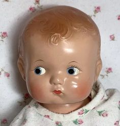 Vintage RARE 1930's Effanbee Patsy BABYKIN TWINS -- Early Painted Eye : Dollyology Vintage Dolls & Antiques / Collectibles | Ruby Lane Little Babies, Little Ones, Doll Toys, Baby Dolls, Fancy Bows, Effanbee Dolls, Baby Pillows, Old Dolls, Antique Toys