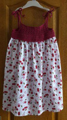Crochet Toddler Dress, Crochet Girls, Crochet For Kids, Crochet Clothes, Little Girl Dresses, Girls Dresses, Crochet Fabric, Filet Crochet, Baby Knitting Patterns