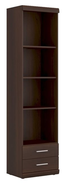 Imperial Tall 2 Drawer Narrow Cabinet with Open Shelving in Dark Mahogany Melamine is manufactured in dark mahogany melamine with laminated board that is resistant to damage and scratching, moisture and high temperatures. #Furniture #PriceCrashFurniture #LoungeAndLiving #Lounge #LivingRoom #Imperial #Drawer #Cabinet #Shelf #Bookcase http://pricecrashfurniture.co.uk/imperial-tall-2-drawer-narrow-cabinet-with-open-shelving-in-dark-mahogany-melamine.html