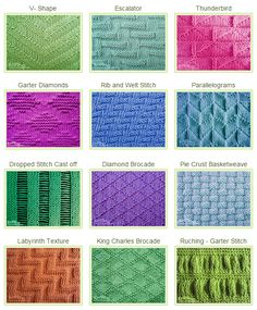 Knit & Purl Stitch Patterns