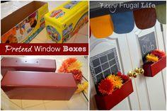 Pretend Window Boxes