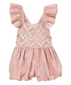 Look what I found on #zulily! Blush Rose Flutter Jumpsuit - Infant & Kids #zulilyfinds