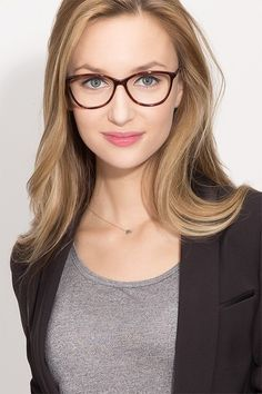 Charlize Tortoise Acetate Eyeglasses from EyeBuyDirect. A fashionable frame with great quality and an affordable price. Come see to discover your style.