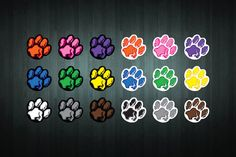 This listing is for ONE brand new paw print sticker/decal, created by Doozi.