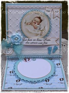baby boy easel card by Lena