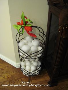 They Are Crafty: Indoor snowball fight- it stays up for the Grandkids all winter!!