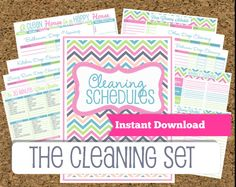 INSTANT DOWNLOADCleaning Printable SetBright by HappyOrganizedLife, $10.00