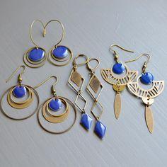 """Et Pourquoi Pas ces bijoux là on Instagram: """"••QuelQues bouCles Bleu Marine•• 💙💙💙 #💙 #bleumarine #blue #bouclesdoreilles #bijoux #bijouxcreateur #etsy #etsyjewelry #instaearrings…"""""""