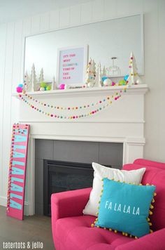 Colorful Modern Holiday Mantel - Tips & Tricks