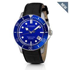 C61 Trident-Pro Automatic, Blue Bezel, Black Strap - Christopher Ward