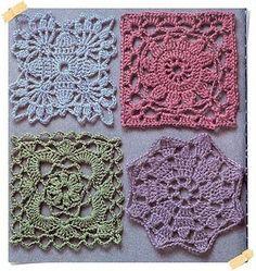 Crochet Charts... http://creationsbyeve.blogspot.com/2010/09/granny-squares.html