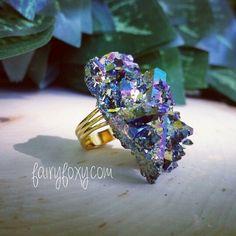 Gypsy Ring•Titanium Aura Crystals