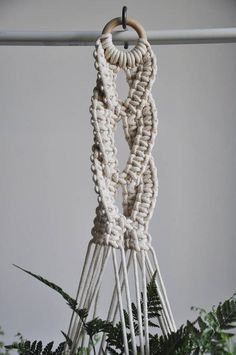 Macrame plant hanger with decorative braid in different variations (see SIZE GUIDE below) Great decoration for boho or scandi home. Perfect gift for any plant lover ;) MADE TO ORDER in 1-3 business days >> color: natural cotton/ecru/beige/linen >> measurements: (this listing is for the