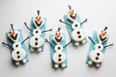Take a bite out of Olaf the Snowman from Disney's 'Frozen' for a sweet wintery treat.